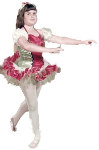 Barri as a ballerina