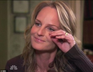 Helen Hunt crying - but not because of me. Photo: NBC